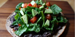 Black Bean and Veggie Tostadas